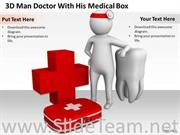 DOCTOR WITH HIS MEDICAL BOX POWERPOINT TEMPLATES