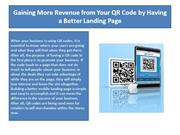Gaining More Revenue from Your QR Code by Having a Better Landing Page