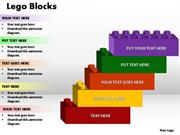 STEPPING TOWARDS BUSINESS GROWTH 5 STAGES LEGO BLOCKS