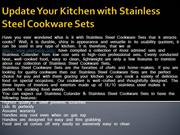 Update Your Kitchen with Stainless Steel Cookware Sets