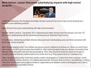 Mark Ishman, Lawyer Discusses cyberbullying impacts