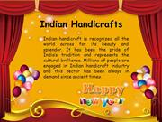 Scope for Online Promotion of Indian Handicraft Industry