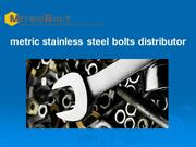 metric stainless steel bolts distributor