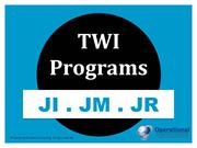 Training Within Industry (TWI) Programs - JI, JM & JR