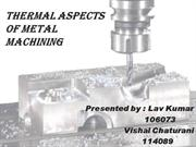 Thermal aspects of metal machining