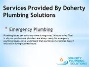 Services Provided By Doherty Plumbing Solutions