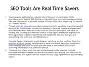 SEO Tools Are Real Time Savers