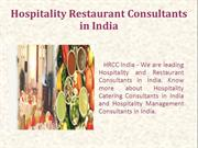 Hospitality Catering Consultants in India