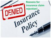 Reasons For Insurance Claim Rejection