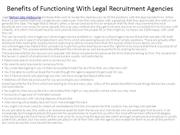 6Benefits of Functioning With Legal Recruitment Agencies