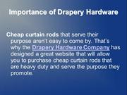 Drapery Hardware and Adjustable Curtain Rods Online