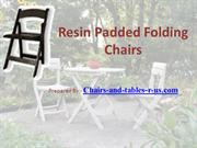 Resin Padded Folding Chairs