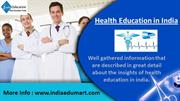 Health Education in India