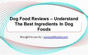 Dog Food Reviews – Understand The Best Ingredients In Dog Foods
