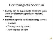 Electromagnetic Spectrum & Wave Properties
