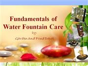 The Fundamentals of Water Fountain Care