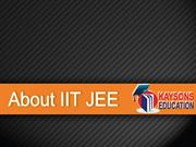 About IIT JEE