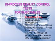 ipqc test for injectables