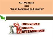 CSR Mandate In India