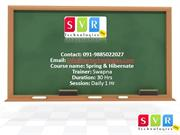 Spring & Hibernate Online Training By Real Time Experts - SVR