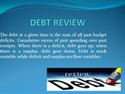 debt review/ get out of debt