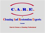 How To Choose A Professional Cleaner