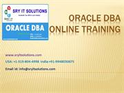 Oracle DBA Online training Offered by SRY IT | DBA Course Details