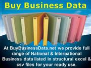 New Business Data, New Business data lists