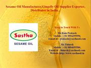 Sastha-Sesame oil Supplier, Sesame oil Manufacturer in India