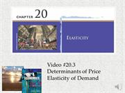 #20.3 -- Determinants of Price Elasticity of Demand
