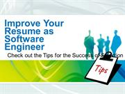 Improve Your Resume as Software Engineer