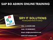 SAP BO ADMIN ONLINE TRAINING | SRY IT SOLUTIONS