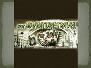 Best Adventure Travel 2014