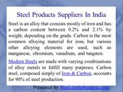 Steel Products Suppliers In India
