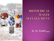 BIOMEDICAL WASTE MANAGEMENT p