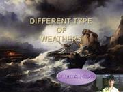 different type of weather