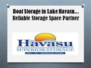 Boat Storage in Lake Havasu... Reliable Storage Space Partner
