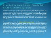 Setup the Industry Self-Storage Standards by theLittleton Self-Storage