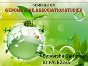 genome wide association studies-Seminar