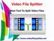 video file splitter