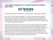 Orion Systems Integrators, Inc. Continues Expansion
