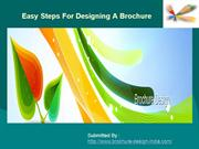 Easy Steps For Designing A Brochure