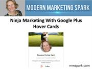 Ninja Marketing With Google Plus Hover Cards