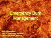 Emergency Burn Management- MAIN