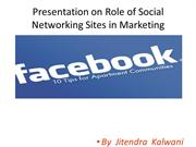 ROLE OF SOCIAL NTWRKNG
