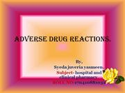 adverse drug reactions and its managment