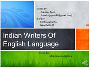 Indian Writers of English Language MADE BY-Pradeep Pant