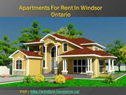 Apartments For Rent In Windsor Ontario