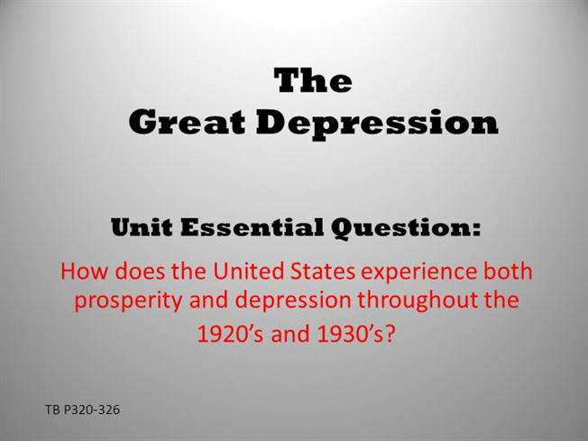 what were the causes and effects of the great depression
