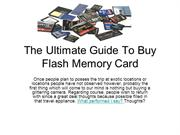 The Ultimate Guide To Buy Flash Memory Card